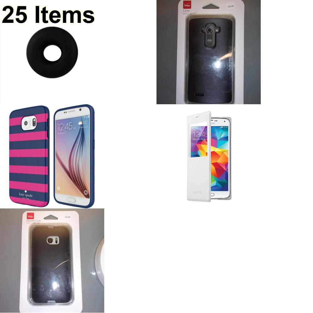 25 X **NEW** Phone Cases, Electronics and More (Jawbone,Kate Spade,Samsung,Verizon)