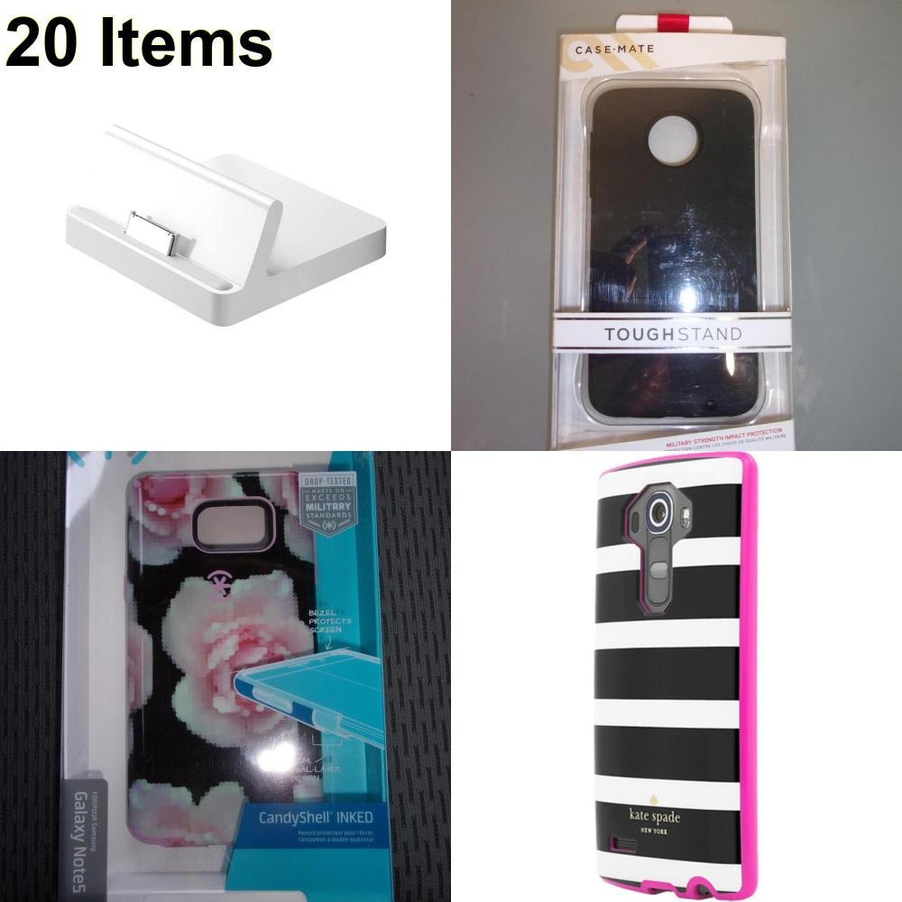 20 X **NEW** Phone Cases, Electronics and More (Apple,Cas-Mate,Kate Spade,Speck)
