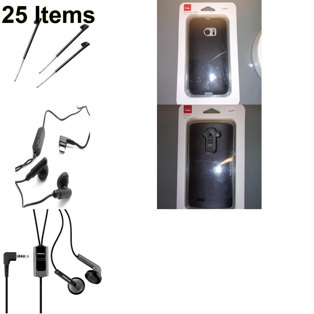 25 X **NEW** Phone Cases, Electronics and More (Nokia,Palm,Samsung,Verizon)