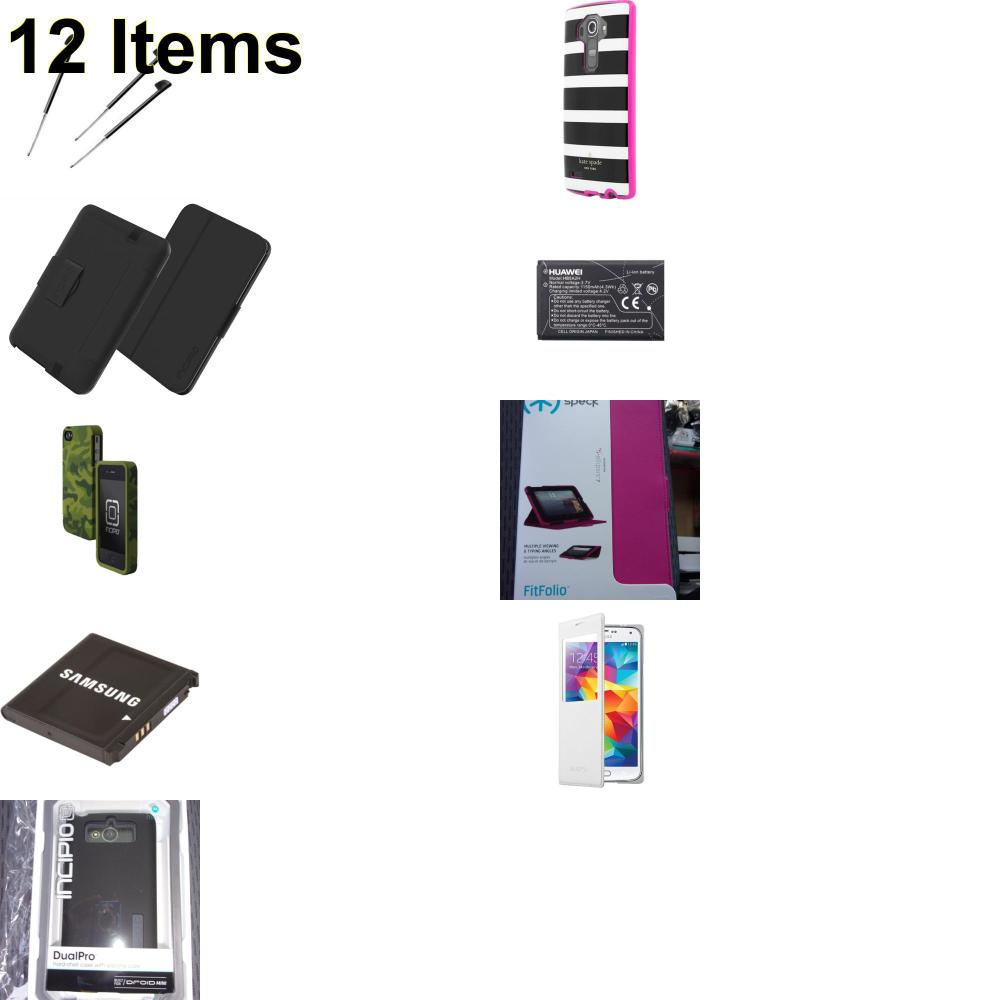 12 X **NEW** Phone Cases, Electronics and More (Incipio,Kate Spade,Palm,Samsung)