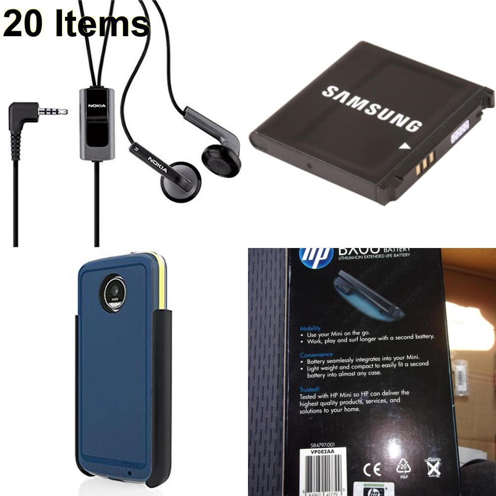 20 X **NEW** Phone Cases, Electronics and More (HP,Incipio,Nokia,Samsung)
