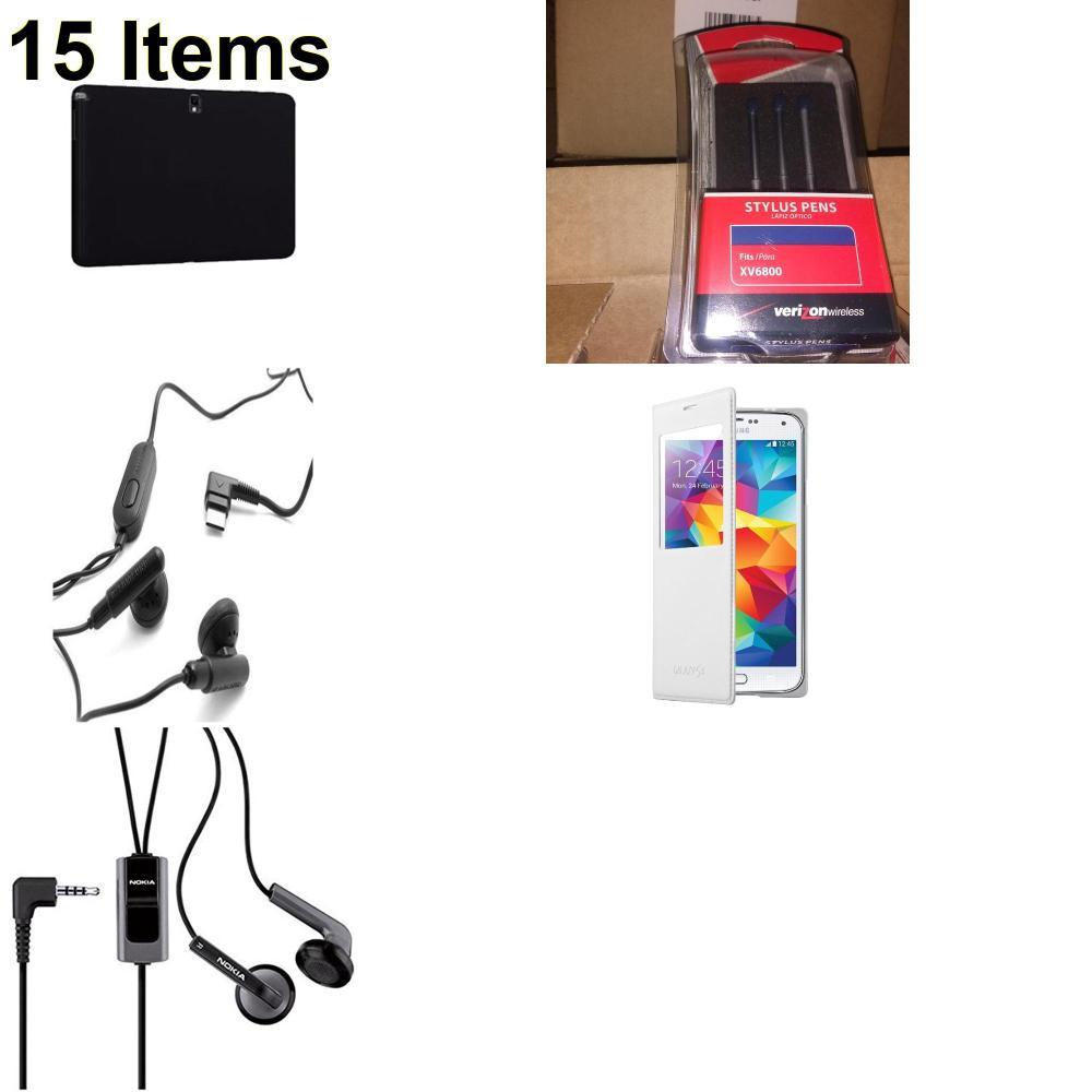 15 X **NEW** Phone Cases, Electronics and More (Nokia,Samsung,UTStarcom,Verizon)