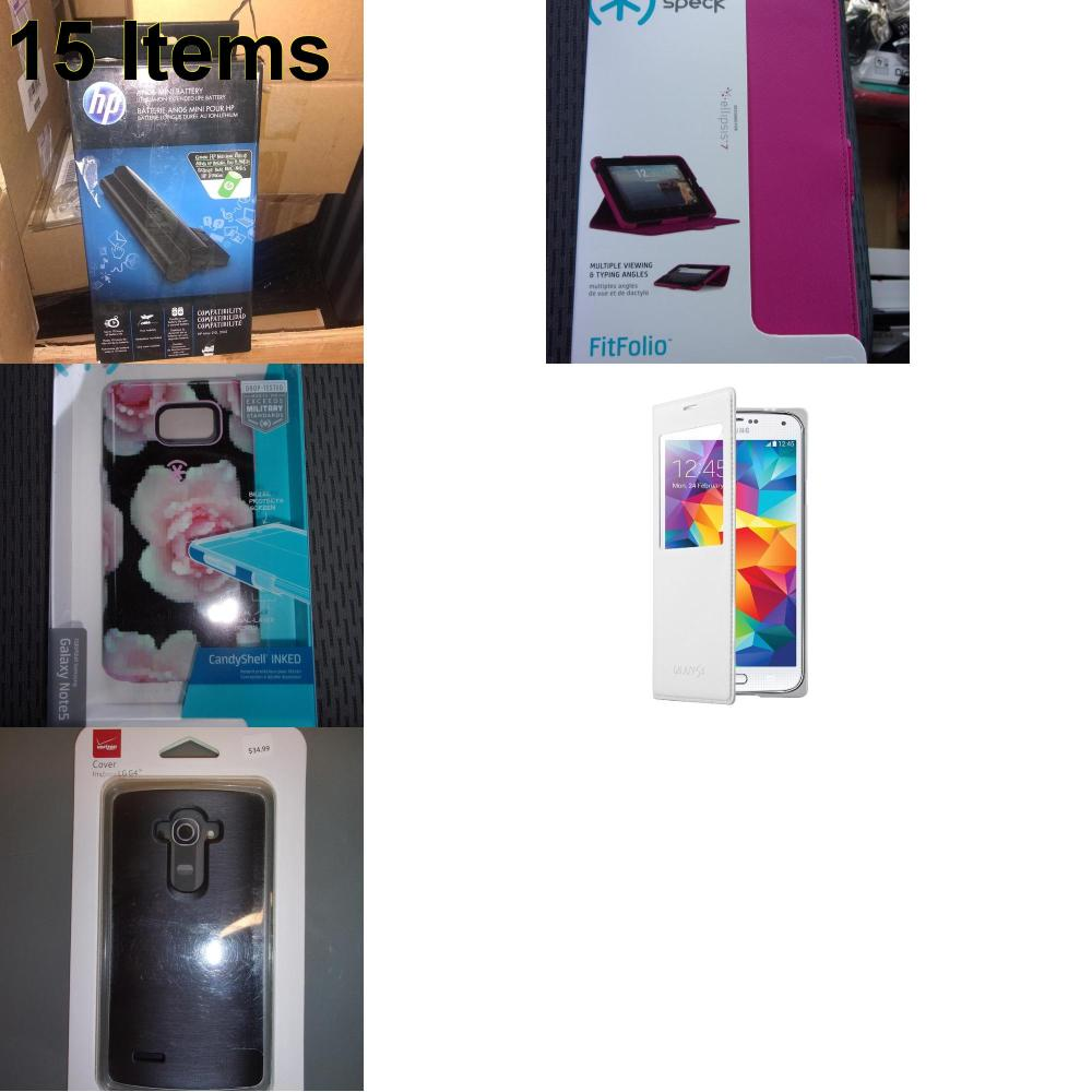 15 X **NEW** Phone Cases, Electronics and More (HP,Samsung,Speck,Verizon)
