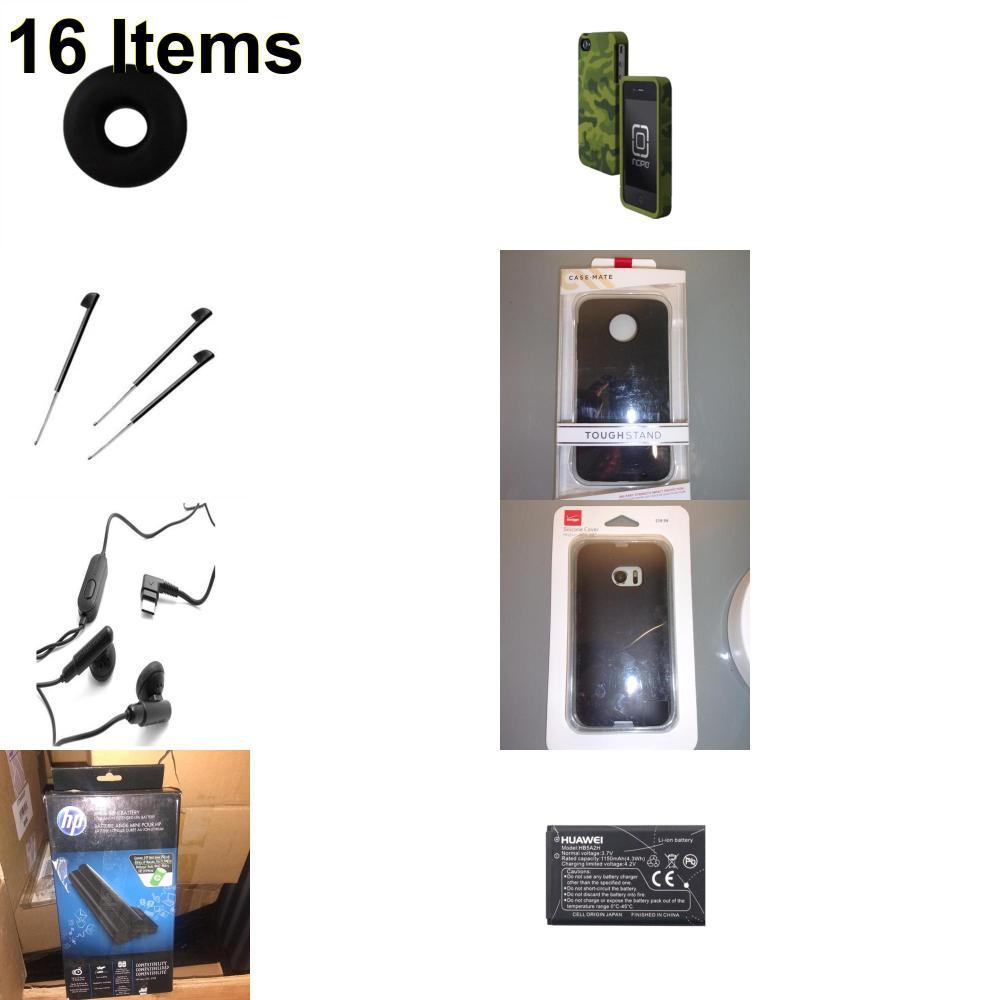 16 X **NEW** Phone Cases, Electronics and More (Cas-Mate,HP,Huawei,Incipio,Jawbone,Palm,Samsung,Verizon)