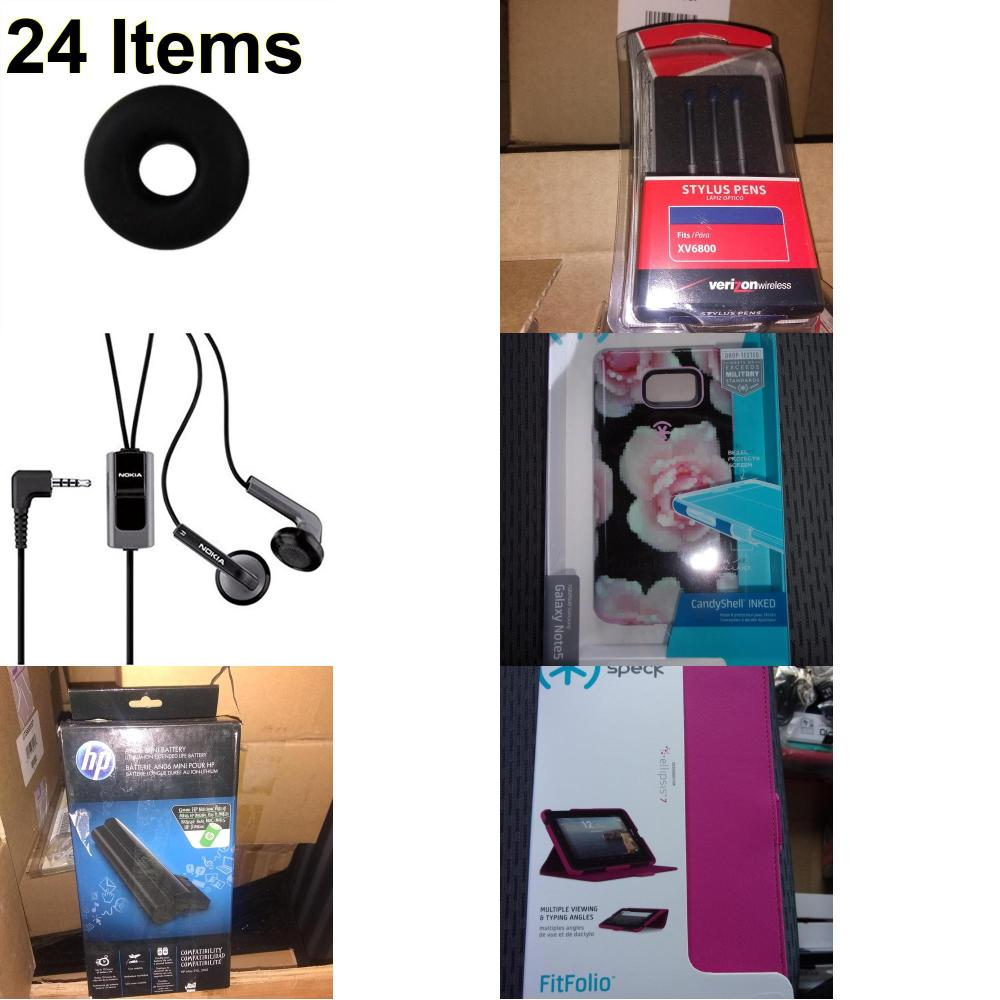 24 X **NEW** Phone Cases, Electronics and More (HP,Jawbone,Nokia,Speck,UTStarcom)