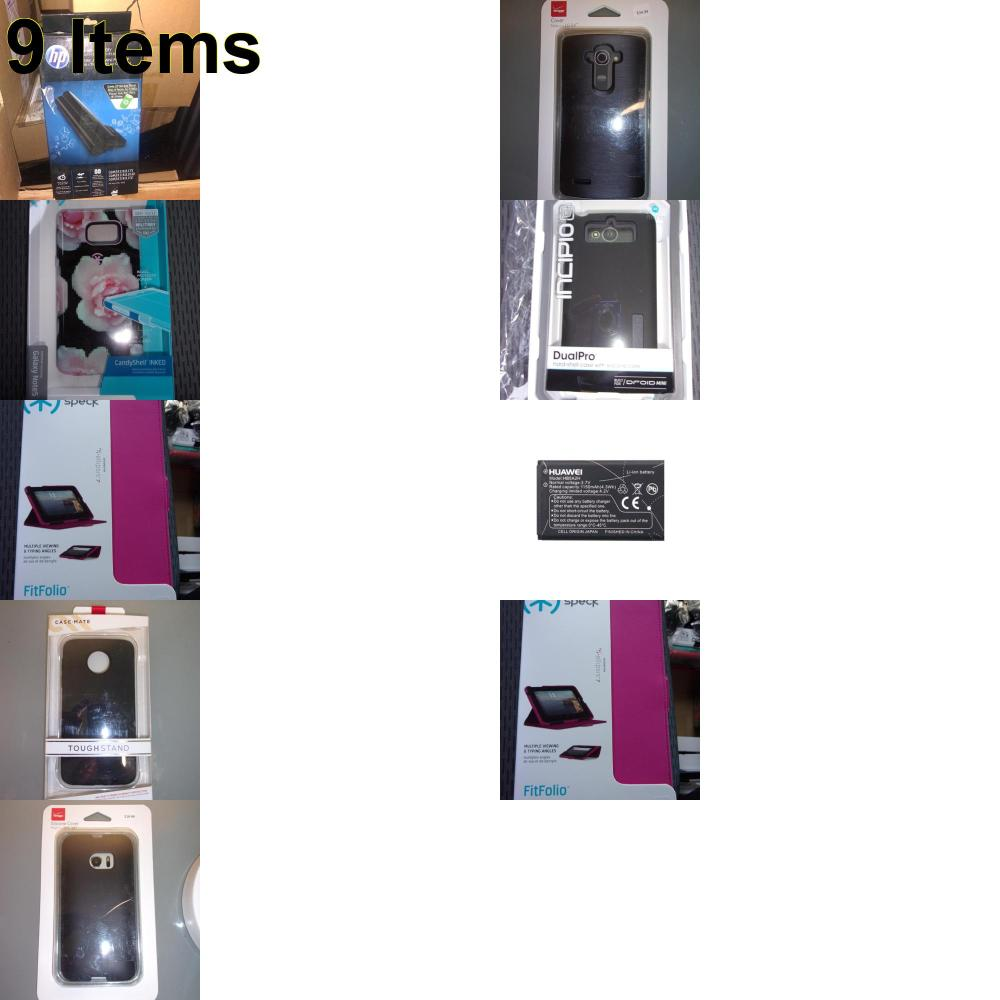 9 X **NEW** Phone Cases, Electronics and More (HP,Speck)