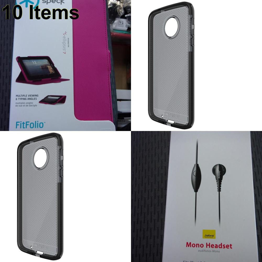 10 X **NEW** Phone Cases, Electronics and More (Speck,Tech21)