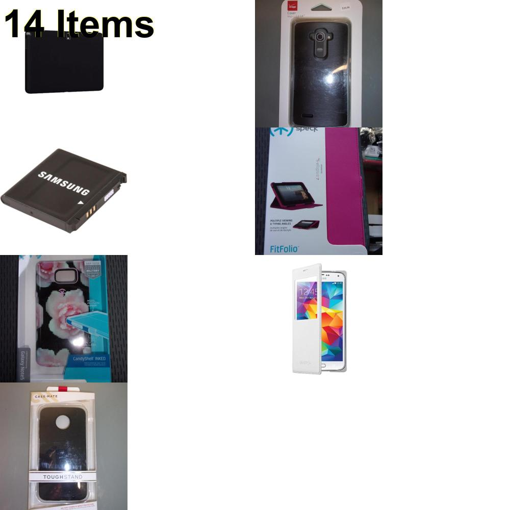 14 X **NEW** Phone Cases, Electronics and More (Cas-Mate,Samsung,Speck,Verizon)