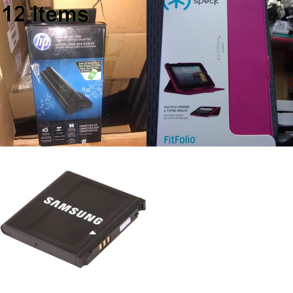 12 X **NEW** Phone Cases, Electronics and More (HP,Samsung,Speck)