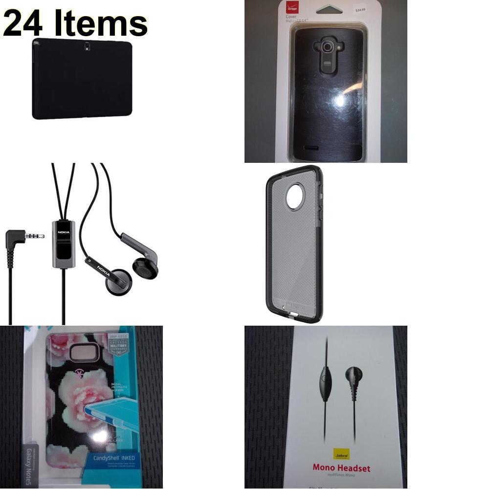 24 X **NEW** Phone Cases, Electronics and More (Jabra,Nokia,Speck,Tech21,Verizon)