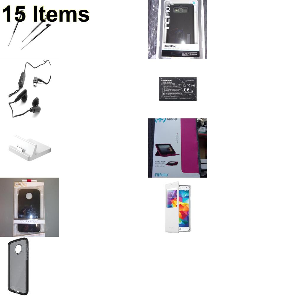 15 X **NEW** Phone Cases, Electronics and More (Apple,Cas-Mate,Palm,Samsung,Tech21)