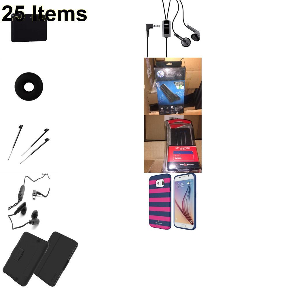 25 X **NEW** Phone Cases, Electronics and More (Apple,Cas-Mate,HP,Huawei,Incipio,Jabra,Jawbone,Kate Spade,Nokia,Palm,Samsung,Speck,Tech21,UTStarcom,Verizon)