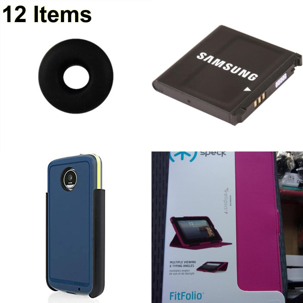 12 X **NEW** Phone Cases, Electronics and More (Incipio,Jawbone,Samsung,Speck)