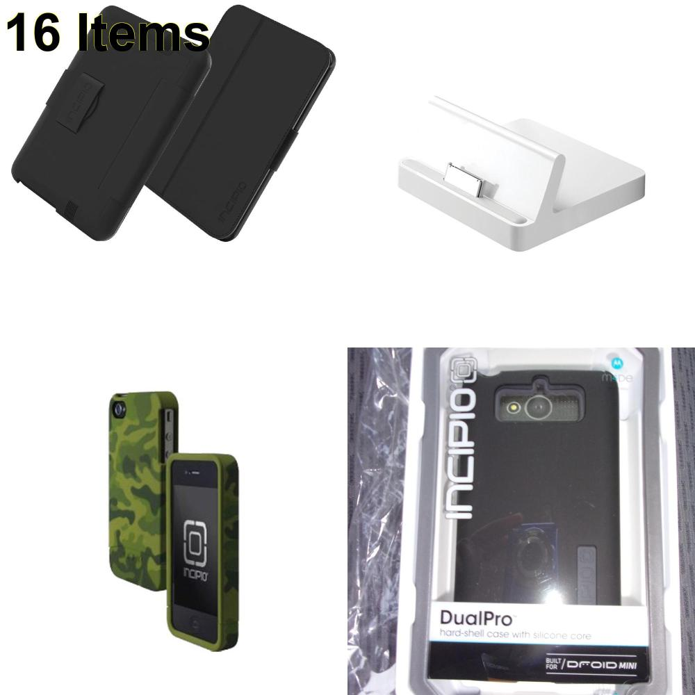 16 X **NEW** Phone Cases, Electronics and More (Apple,Incipio)