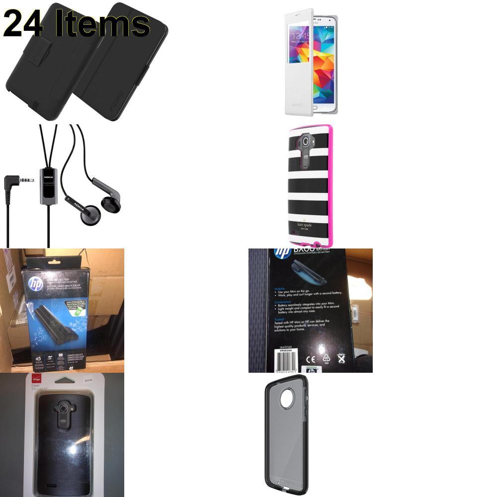 24 X **NEW** Phone Cases, Electronics and More (HP,Incipio,Kate Spade,Nokia,Samsung,Tech21,Verizon)