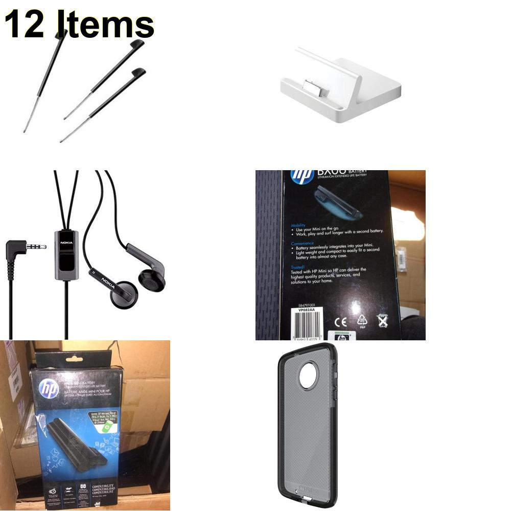 12 X **NEW** Phone Cases, Electronics and More (Apple,HP,Nokia,Palm,Tech21)