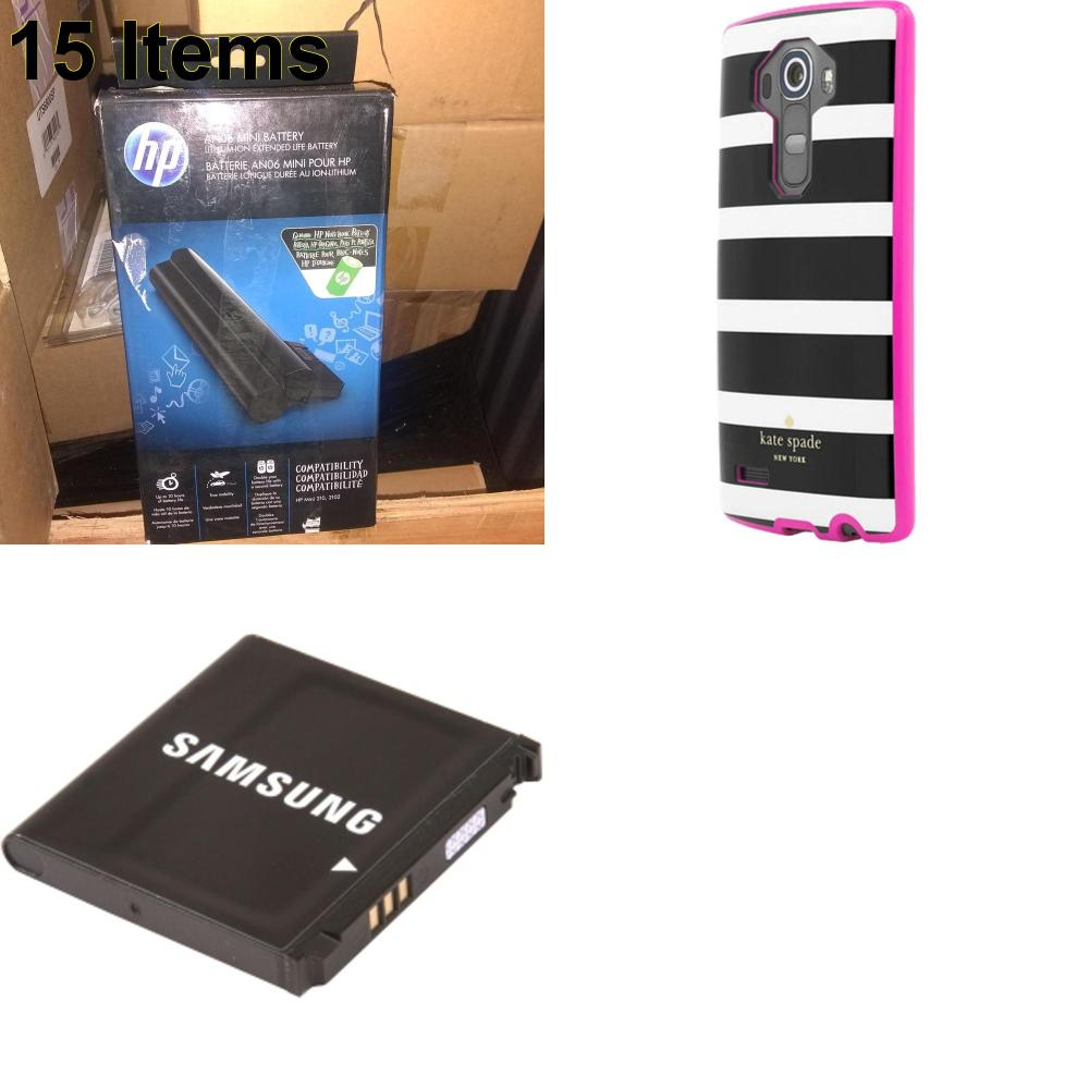 15 X **NEW** Phone Cases, Electronics and More (HP,Kate Spade,Samsung)