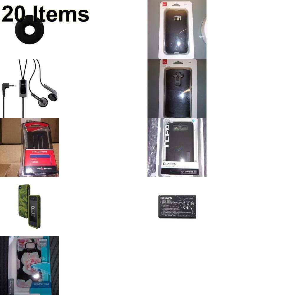 20 X **NEW** Phone Cases, Electronics and More (Incipio,Jawbone,Nokia,Speck,UTStarcom)