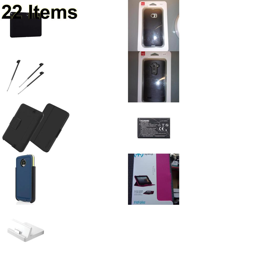 22 X **NEW** Phone Cases, Electronics and More (Apple,HP,Huawei,Incipio,Palm,Samsung,Speck,Verizon)