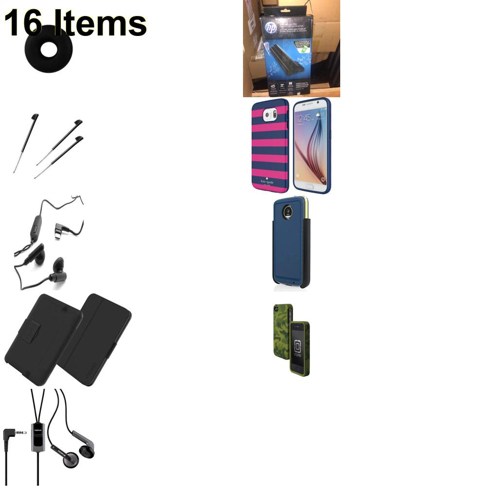 16 X **NEW** Phone Cases, Electronics and More (Cas-Mate,HP,Huawei,Incipio,Jabra,Jawbone,Kate Spade,Nokia,Palm,Samsung,Speck)