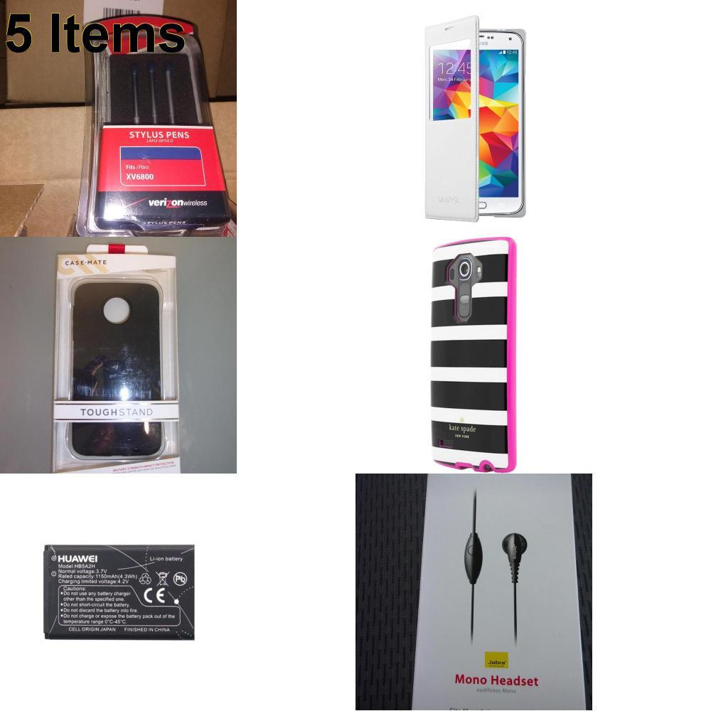 5 X **NEW** Phone Cases, Electronics and More (UTStarcom)