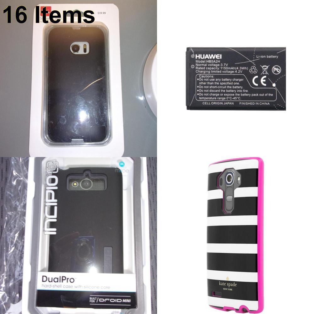 16 X **NEW** Phone Cases, Electronics and More (Huawei,Incipio,Kate Spade,Verizon)