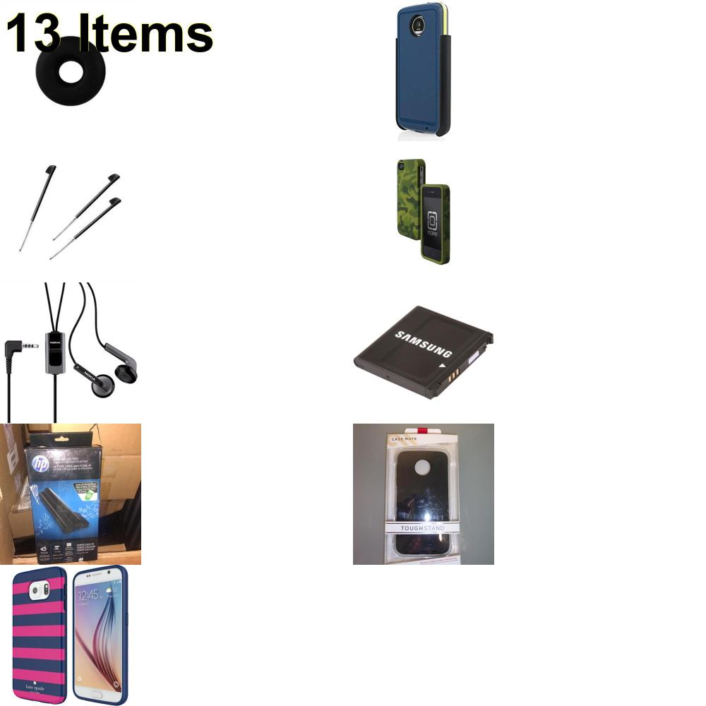 13 X **NEW** Phone Cases, Electronics and More (Cas-Mate,HP,Incipio,Jabra,Jawbone,Kate Spade,Nokia,Palm,Samsung,Tech21,Verizon)