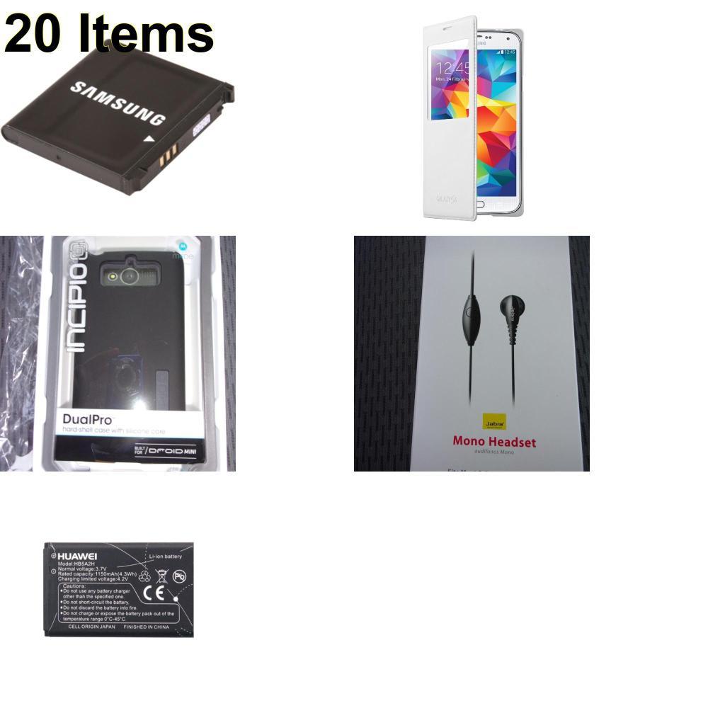 20 X **NEW** Phone Cases, Electronics and More (Huawei,Incipio,Jabra,Samsung)