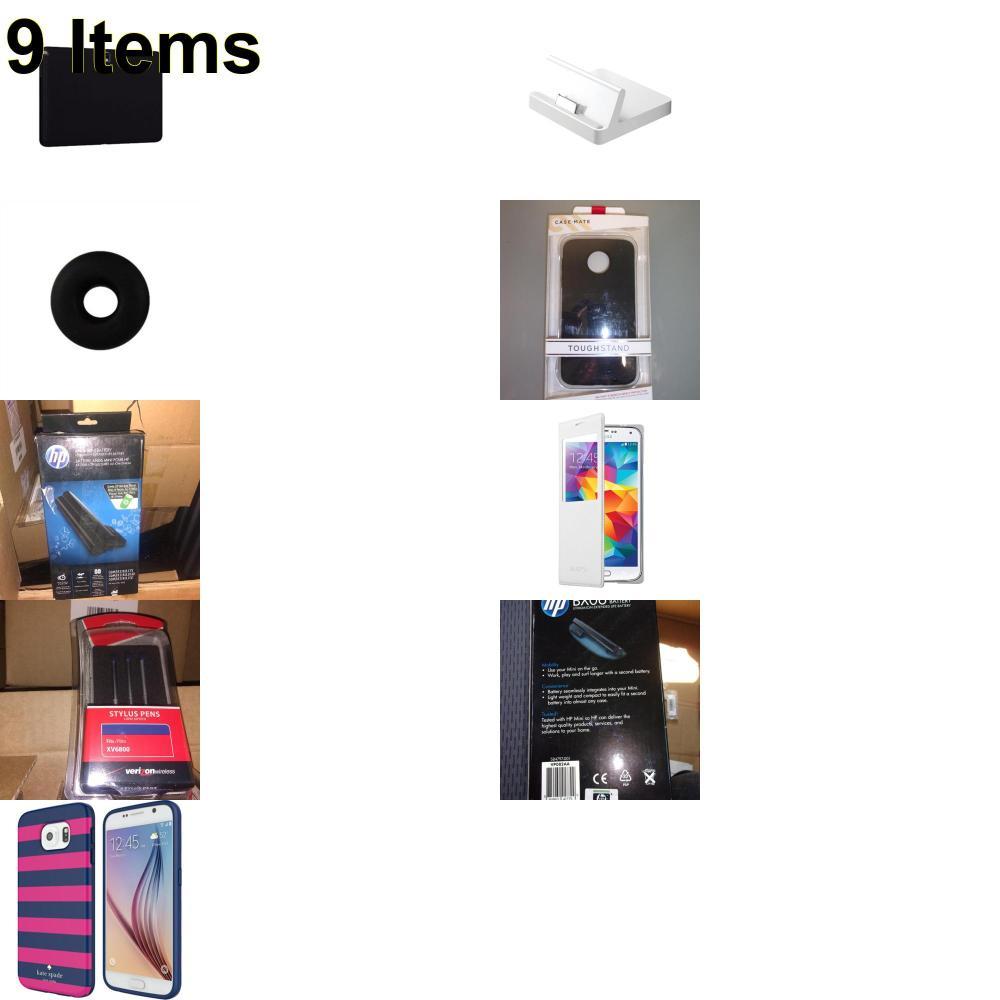 9 X **NEW** Phone Cases, Electronics and More (Apple,Cas-Mate,HP,Jawbone,Kate Spade,Samsung,UTStarcom,Verizon)
