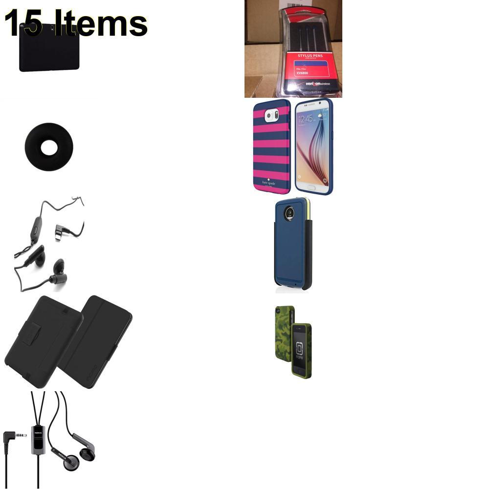 15 X **NEW** Phone Cases, Electronics and More (Cas-Mate,HP,Incipio,Jabra,Jawbone,Kate Spade,Nokia,Samsung,Tech21,UTStarcom,Verizon)