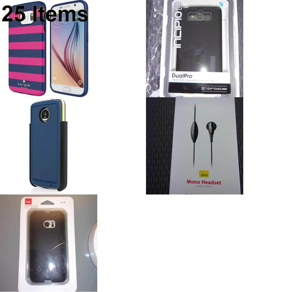 25 X **NEW** Phone Cases, Electronics and More (Incipio,Jabra,Kate Spade,Verizon)