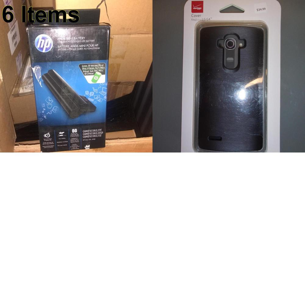 6 X **NEW** Phone Cases, Electronics and More (HP,Verizon)