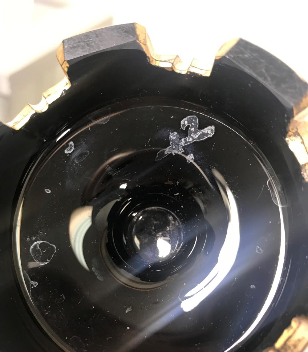antique Enameled Bohemian Amethyst Glass Vase Czech - Harrac