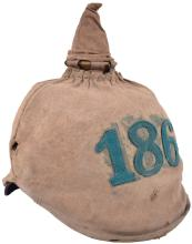 HESSIAN INFANTRY ENLISTED MANSPICKELHAUBE WITH TRENCH COVER
