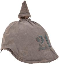 BAVARIAN 21STREGIMENT ENLISTED MANS PICKELHAUBE AND TRENCH COVER