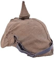 PRUSSIAN ENLISTED MANS PICKELHAUBE WITH FIELD COVER