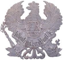 PRUSSIAN CUIRASSIER REGIMENT NO. 2 ENLISTED MANS HELMET PLATE