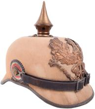 PRUSSIAN FUR FELT CLOTH COVERED ENLISTED MANS PICKELHAUBE