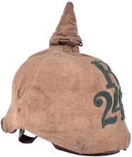 SAXON RESERVE INFANTRY REGIMENT ENLISTED MANS PICKELHAUBE AND TRENCH COVER