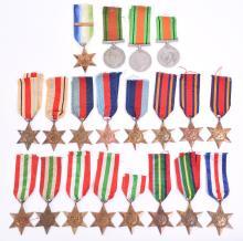 Quantity of WW2 British Campaign Stars Medals