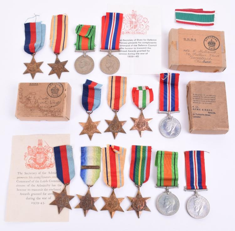 Three WW2 Campaign Medal Groups