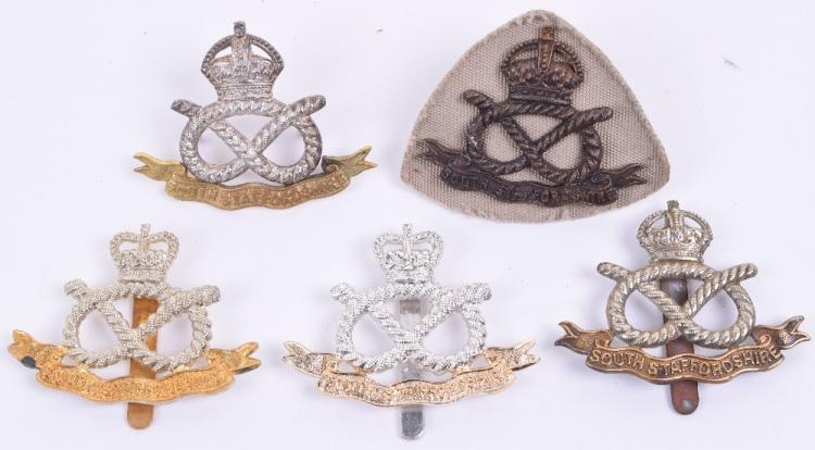 Selection of South Staffordshire Regiment Cap Badges