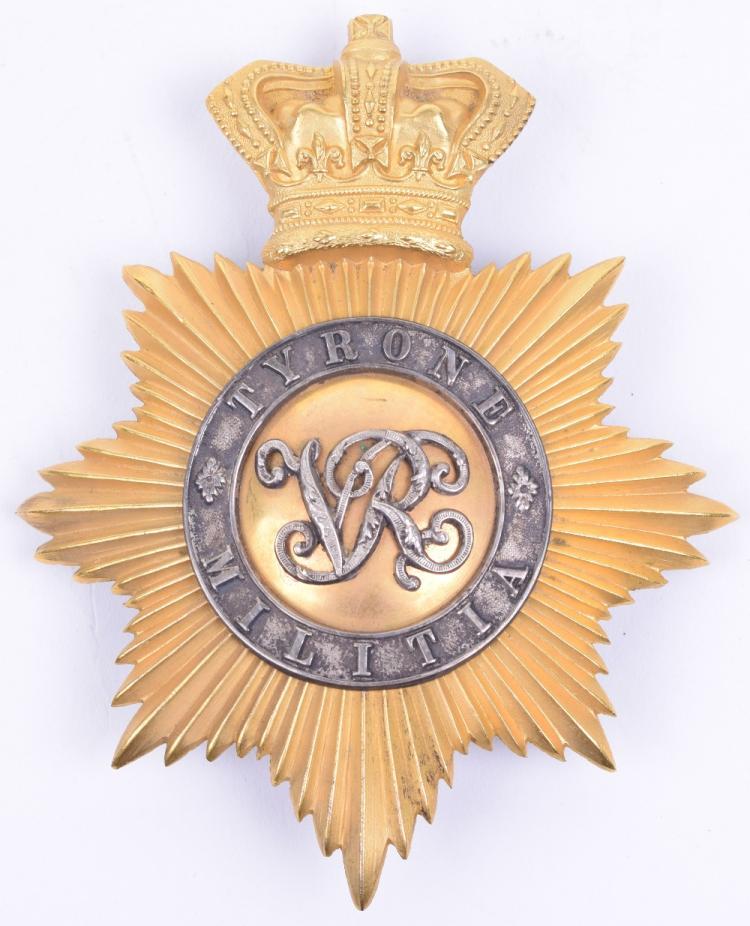 Rare Victorian Tyrone Militia Officers 1855-61 Shako Plate