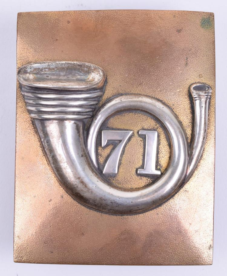 71st Highland Light Infantry Officers Shoulder Belt Plate pre 1881