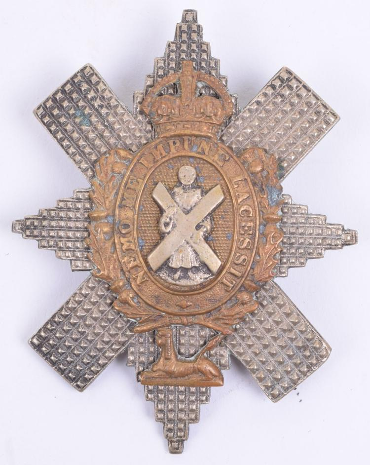 WW2 Period Black Watch (Royal Highlanders) NCO's Glengarry Badge