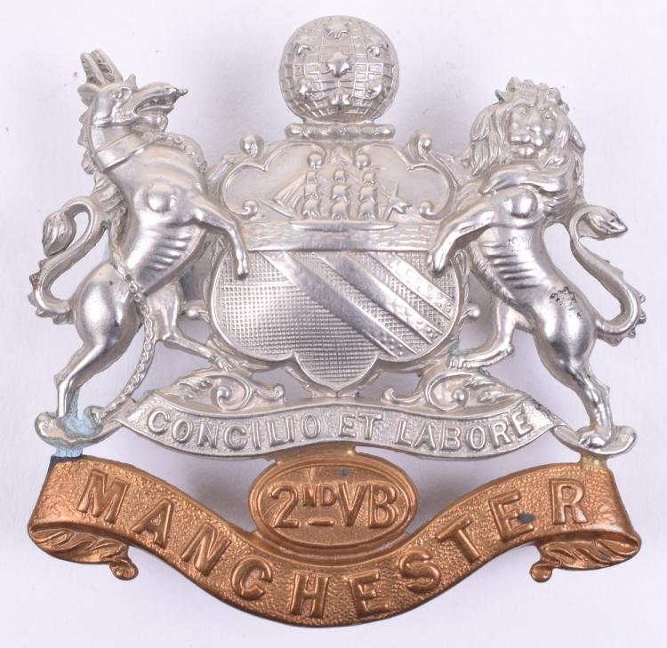 2nd Volunteer Battalion Manchester Regiment Cap Badge
