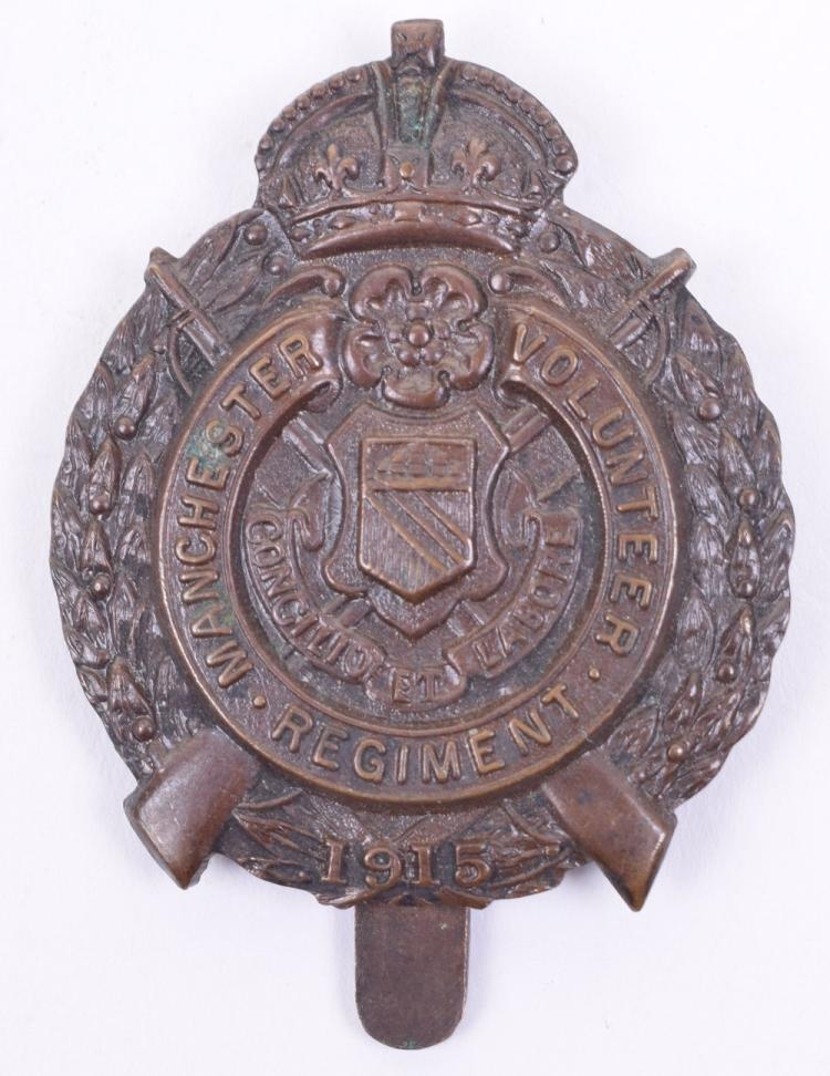 Manchester Volunteer Regiment 1915 Cap Badge