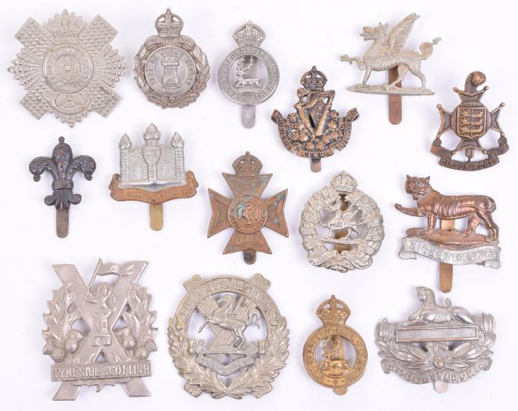 Selection of Territorial Battalions Cap Badges