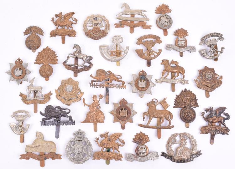 Quantity of British Infantry Cap Badges
