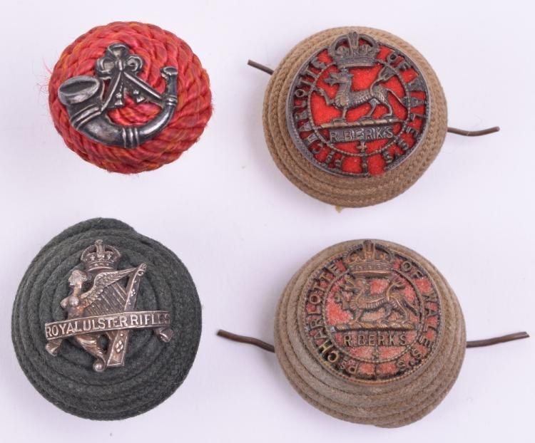 Four Infantry Officers Cord Boss Badges